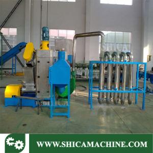 Lavage de la granulation et machine de recyclage de plastique pour les déchets de PVC PP PEHD PET