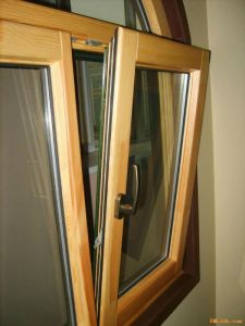 Aluminium-Holz Neigung-u. Drehung-Fenster (LM55)