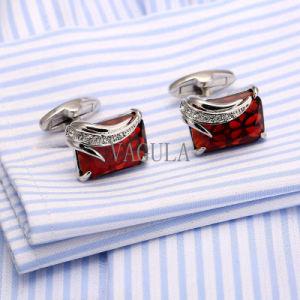 Cufflinks van Mensen VAGULA Franse Manchetknopen 162 van het Kristal van Gemelos Zircon van de Gift van het Huwelijk