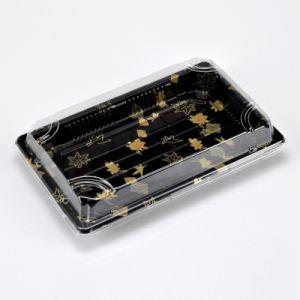 食品包装のプラスチック黒い寿司の容器