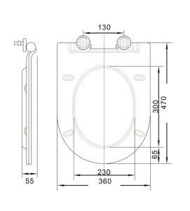 ジェット機1003新式の現代PPの物質的な浴室の便座