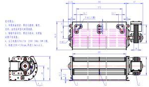 Motor monofásico de autopartes Motor del ventilador de la cruz de ventilador/ aparato doméstico.