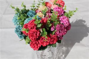 装飾のための卸し売り擬似多色刷りの絹のアジサイの人工花