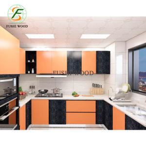 Color naranja y negro lacado alto brillo de lujo Muebles de ...
