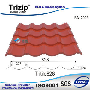 Tuile en acier de couleur (TD828) /Feuilles traditionnelles