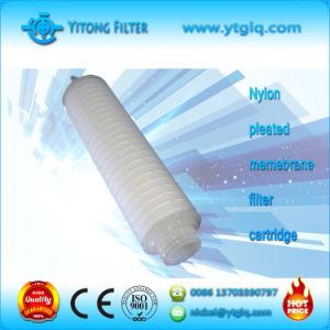 Cartuccia di filtro pieghettata nylon dalla membrana
