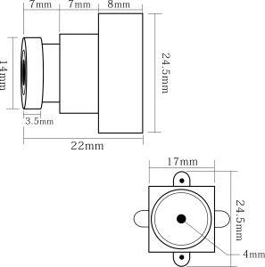 0.0001600TVL lux la visión nocturna de alta resolución en blanco y negro Mini cámara CCTV Sistema de seguridad de vídeo