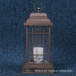 多機能の太陽再充電可能なLEDの蝋燭のランタン(RS5002)