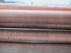銅の低いひれ付き管