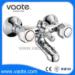 二重ハンドル真鍮ボディ浴室のシャワーのコック(VT61701)
