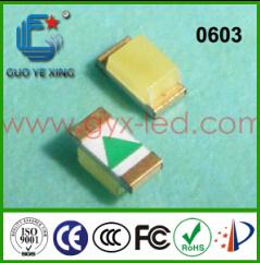 2017 Venta caliente China Fabricante de LED de color azul hielo 1608 0603 SMD LED de retroiluminación para TV