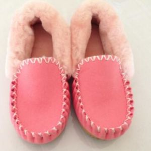 Venta caliente Sheepskin Moccasin Unisex Home zapatos