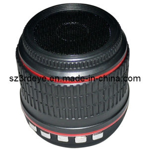 Lente de cámara Mini altavoz Bluetooth Estéreo Inalámbrico Portátil (LC-B047)