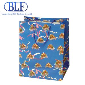 изготовленный на заказ<br/> печать логотипа торговой марки бумаги подарочный пакет для оптовых покупок (BLF-PB045)
