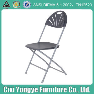 Weddings를 위한 회색 Metal Frame Plastic Foldng Chair