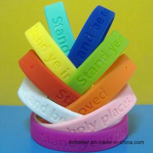 Debossed pulseras de silicona, pulseras rebajados