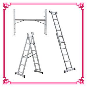 足場Ladder/Singleアルミニウムステップ多目的梯子