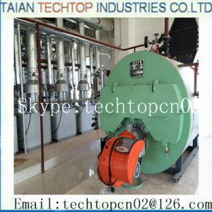 Gás combustível dupla utilização industrial de queima de gasóleo da caldeira de óleo