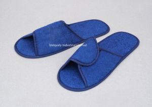 Tissu de coton voyage professionnel Anti-Skid Airline pantoufles