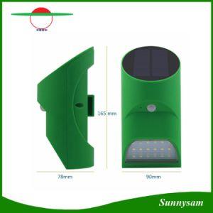 18 de bambú de la Energía Solar LED Light Sensor de movimiento PIR Lámpara de Pared exterior Jardín Lámpara de luz solar