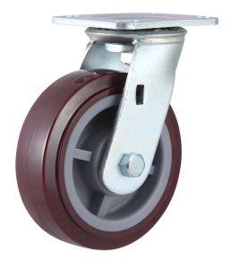 Rotação da Roda Industrial Rodinha PU (vermelho)