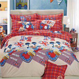 ポリエステルは漫画の寝具セットを印刷した