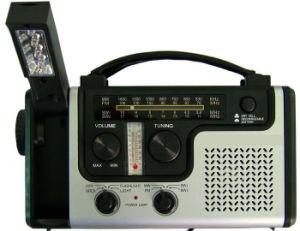 Solares de emergência luzes LED de Rádio Dínamo Manivela do carregador para o Mobile