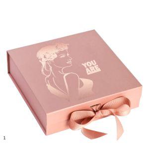 1 por grosso de papelão Personalizada Rosa Rígida Preto Branco Bridesmaid Natal Dom Magnético Embalagem Caixa de perfume/o Macaron/Candle/Chocolate/chá/equipamento/vestuário/Vestuário