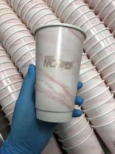 Logo jetables d'impression personnalisé du papier blanc à double paroi tasse de café