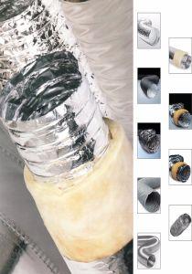 Folha de alumínio Non-Insulated Duto de Ar flexível para o sistema de ventilação