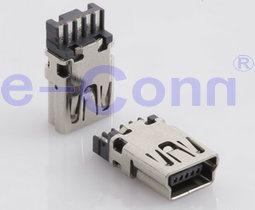 소형 USB B 유형 소켓 Conn. 땜납 유형