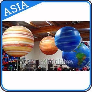 Planeta Tierra de globos inflables globos de helio de la luna