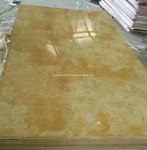 Hoog polijst het Marmeren Blad van pvc van de Goede Kwaliteit met UVDeklaag