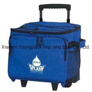 Promotionnels imprimés personnalisés 48 pouvez sac du refroidisseur à roues