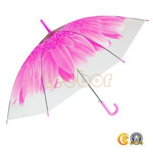 傘の花プリント透過Poe昇進の明確な傘
