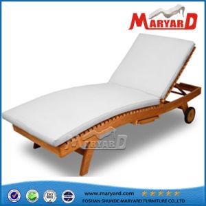 Playa de muebles de madera de teca tumbonas