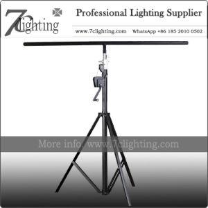 Soporte de cabestrante 4,5m de iluminación móviles ronda de la producción de soporte de la barra de T