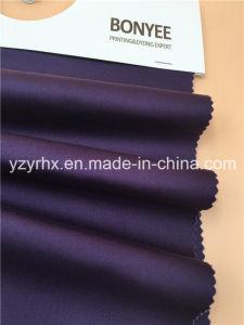 Cotone Finished del tessuto/saia viola dello Spandex 4/1 di stirata