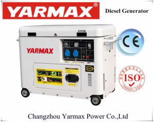 Yarmaxの無声ディーゼル発電機の携帯用経済的なGensetのセリウムISO公認6kVA 6.5kVA Ym9700t