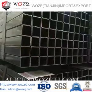 Q195-Q345 건축 ERW에 의하여 용접되는 온화한 강철 검정 둥근 관