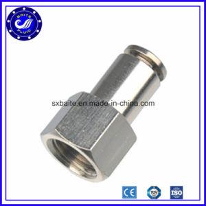 China de acero inoxidable de metal de 3 vías de colocación rápida neumática Conexiones