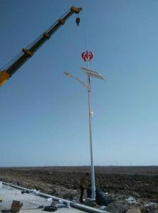 60W LEDの街灯のための太陽電池パネルが付いている200W Vawt Maglevの風力