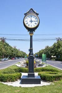 Reloj horizontal Reloj impermeable al aire libre extra grande de doble cara personalización reloj reloj