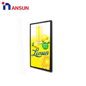 Коммерческая установка на стену ЖК-экран для рекламы плеер с сетью