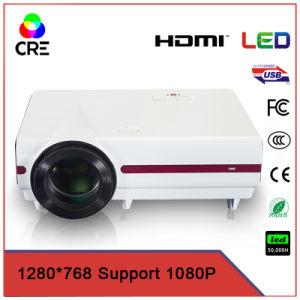 Preiswertes Projektor-Heimkino LED-LCD mit androidem HD WiFi Bluetooth Fernsehen-Support 1080P