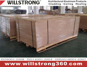 Comitato composito di alluminio di colore metallico per esterno Using