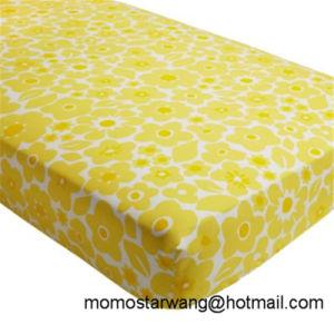 La impresión de algodón tejida de promoción de la hoja de hoja de cama cuna para bebés/niños