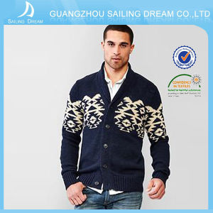 Maglione decorativo 100% del cachemire del reticolo di vendita degli uomini caldi di lavorazione