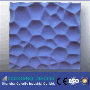 De solides performances absorbant le son en fibre de polyester panneaux intérieurs de 3D