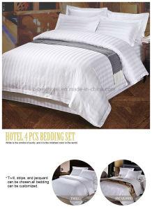 100% Algodón Bedsheet conjunto de ropa de cama de hotel